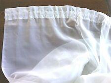 Window Curtains Nets Drapes Pair White Panel Rod Pocket Treatments Sheer Decor