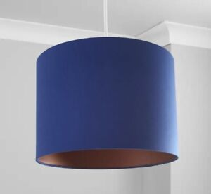 New Stunning HQ Bronze Finish Royal Blue  Lamp Shade Pendant 30 Cm