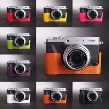 Handmade Real Leather Half Camera Case Camera bag for FUJIFILM X30 8 colors