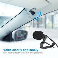 3.5mm Car Radio Stereo Microphone Bluetooth Vehicle External Mic for GPS Audio U