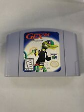 Gex 64: Enter the Gecko (Nintendo 64, 1998) N64 game only Authentic Tested