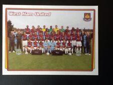 Merlin Football Sticker #410 2001-02 West Ham United Team Picture Mint Condition