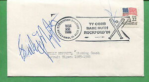 BILLY MUFFET Signed Cover 1986 Detroit Tigers Pitching Coach - B0804