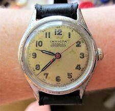 Gents 1940s Swiss SS Invicta 17J Mechanical Watch Working