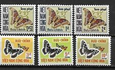 South Vietnam 1966 Moth Postage Due SC# J15-J20 MNH