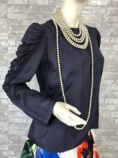 Dries Van Noten Purple Silk Blouse Dress Top 8 US 40 FR 44 IT M Zip Runway Auth