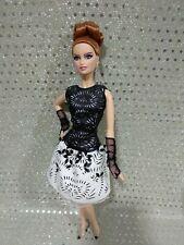 Barbie collector black and white Platinum laser leatherette Lara pristine condit
