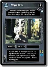 Star Wars CCG Endor DS Rare Sergeant Barich