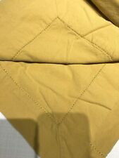Yellow Ochre Smooth Cotton Table Cloth with Decorative Hem 57 x 115