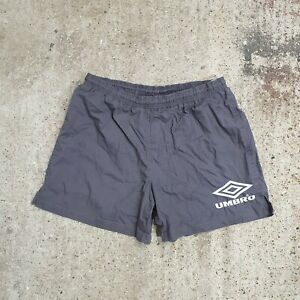 Vintage 90s Umbro Grey Spellout Shorts