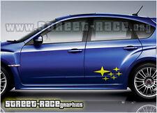 Subaru 004 Impreza estrellas Calcomanías Pegatinas Gráficos