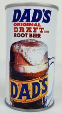 Vtg Dad's Original Draft Style Root Beer Beaver Tail 12 Oz Soda Can Advertising