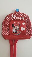 Disney Store Minnie Mouse, Girl's Backpack, 30x27x10cm, Red 3D, Authentic $69.00