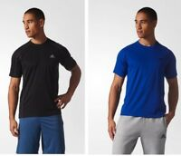Adidas Mens Climalite Essential Tech Short Sleeve Training T Shirt Blue or Black