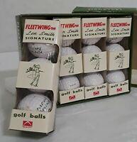 Vintage FLEETWING Len Smith Signature Golf Balls Made in Japan Set of 3 1961 Era