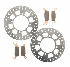 Race Driven Front Brake Pads /& RipTide Brake Rotor Discs for Yamaha Grizzly YFM 550 YFM550 Kodiak 700 YFM700