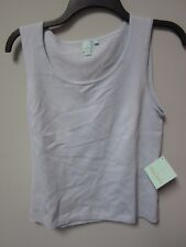SHU SHU Women's Winter Blue Sleeveless Shirt Size Medium