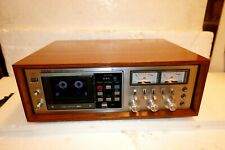 TEAC CX-650R CASSETTE DECK IN WALNUT CABINET - BELT SLIPS