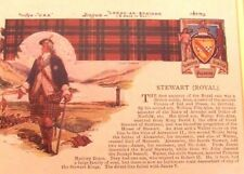 "Stewart (Royal) framed 12"" x 15"" ancestor information "" Royal race "" ancestry"