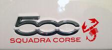 Abarth 500 Fiat 500 Squadra Corse dash sticker