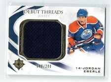 10-11 UD Ultimate Debut Threads  Jordan Eberle  /200  Jersey  Rookie