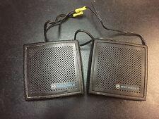 Set of 2 Motorola External Radio Speakers