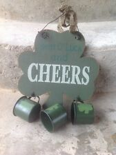 Best O Luck and Cheers Irish Sign with Mugs Pub Bar Club Man Cave Plaque