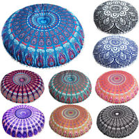 UK Indian Mandala Floor Pillows Round Bohemian Cushion Pillows Cover Huge Case