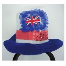 GB Adult Top Hat Great Britain Mini Union Jack Flag Top Royal Wedding