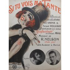 NELSON R. Si tu vois ma tante Chant Piano 1925 partition sheet music score