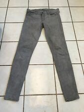 Plastic By Gly Light Gray Cotton/Rayon Mid Rise Skinny Stretch Jeans Sz 29