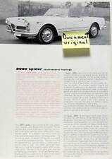 ALFA ROMEO 2000 SPIDER   CARROZZERIA TOURING  CATALOGUE SPYDER MULTILANGUES