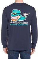 VINEYARD VINES St. Patrick's Day Whale Long Sleeve Pocket T-Shirt Men's XS *NEW*