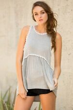 Women's Racerback Sleeveless Babydoll Tank Top - POL Clothing - LARGE