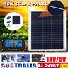 30W 18V Solar Panel Kit With 10A 12V/24V Regulator Charger Controller Battery AU