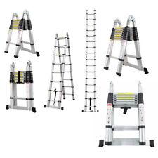 Scala universale in alluminio, richiudibile telescopica, varie misure e gradini