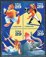 Scott# 2750-53 - 1993 Commemoratives - 29 cents American Circus