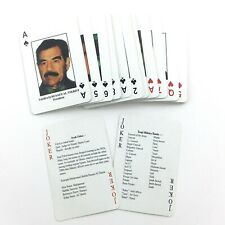 Most Wanted Iraqi Military Playing Cards Saddam Hussein Made in Taiwan 78g L099
