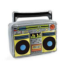 INFLATABLE BOOM BOX 70's 80's retro TAPE DECK GHETTO BLASTER party FREE SH