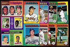 1975 OPC O PEE CHEE TOPPS MLB BASEBALL CARD ERROR VARIATION 1-330 SEE LIST