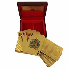 Novelty Playing Cards Deck in 999.9 Gold Plating Unusual Gift From India by
