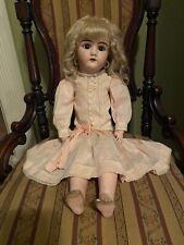 Beautiful Antique German Doll 23 Inches Tall Handwerck 109