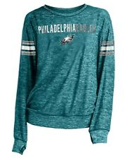 "Philadelphia Eagles Women's New Era NFL ""Sack"" Space Dye Pullover Sweatshirt"