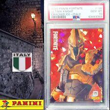 PSA 10 GEM MT Ultima Knight CRACKED ICE #186 - ITALY Panini Fortnite POP 1 💀📈
