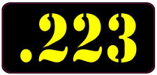 BLACK / YELLOW .223 AMMO CAN LABELS SET OF 4