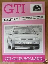 VOLKSWAGEN VW GTI MAG NO 31,HANS WEYS,SCHOKDEMPERS,AUTOTUNER KOK,RANDD,