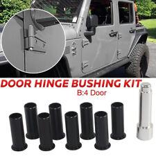 Door Hinge Bushing Pin Liners Delrin for Jeep Wrangler JKU 2007-2018 4 Doors Car