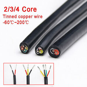 2/3/4 Core Soft Silicone Sleeving Automotive Power Car Cable Electrical Wire