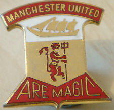 MANCHESTER UNITED Vintage 70s 80s badge Maker REEVES Bham Brooch pin 28mm x 30mm