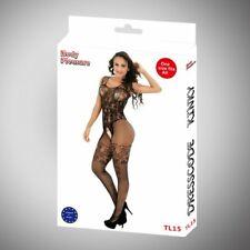 Body Pleasure - Sexy Lingerie - Black - Bodystocking - Tl15 - Giftbox - One s...